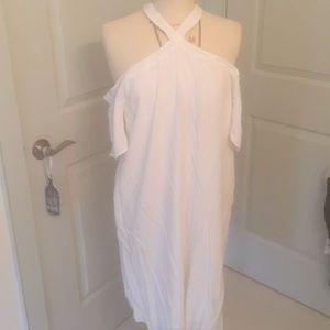 Loft White Cold Shoulder Dress NWT Size XXL